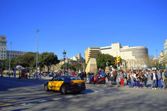 Placa Catalunya, πλατεία της Καταλωνίας, Βαρκελώνη Στοκ Εικόνες