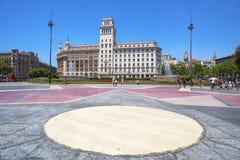 Placa Catalunya στη Βαρκελώνη, Ισπανία Στοκ Φωτογραφίες