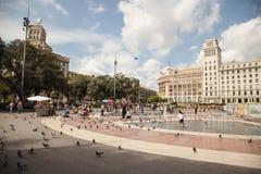 Placa Catalunya στη Βαρκελώνη, Ισπανία Στοκ φωτογραφία με δικαίωμα ελεύθερης χρήσης