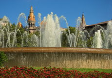 Placa Catalunya στη Βαρκελώνη Στοκ Φωτογραφίες