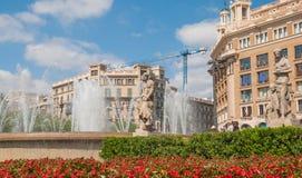 Placa Catalunya στη Βαρκελώνη Στοκ φωτογραφίες με δικαίωμα ελεύθερης χρήσης