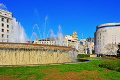 Placa Catalunya in Barcelona, Spain Stock Photography