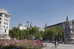 Placa Catalunya Royalty Free Stock Photo