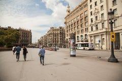 Placa Catalunya in Barcelona, Spain Stock Images