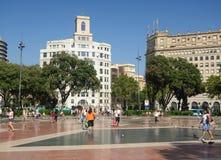Placa Catalunya otwarta przestrzeń Obraz Stock