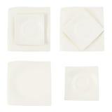 Placa cerâmica quadrada isolada Foto de Stock