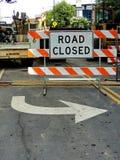 Placa cerrada del camino Foto de archivo libre de regalías
