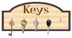 Placa chave de madeira Imagens de Stock
