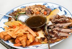 Placa chinesa da mistura da culinária fotos de stock royalty free