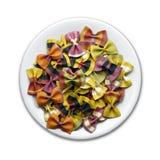 Placa colorida de las pastas Imagen de archivo libre de regalías