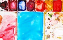 Placa colorida del color de agua Imagen de archivo libre de regalías