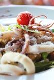 Placa com alimento de mar fotos de stock royalty free