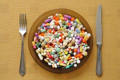 Placa com comprimidos Foto de Stock