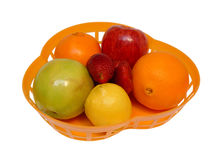 Placa com fruta Imagens de Stock