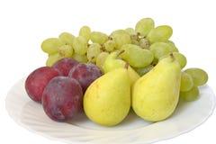 Placa com frutas Fotografia de Stock Royalty Free