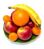 Placa com frutas Imagens de Stock Royalty Free