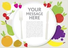 Placa com frutos saudáveis Fotos de Stock