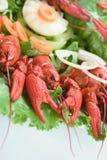Placa com lagostas Imagem de Stock Royalty Free