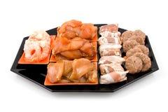 Placa com o gourmet da carne fresca fot fotos de stock