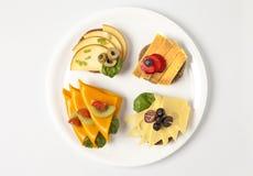 Placa com sanduíches Imagens de Stock Royalty Free