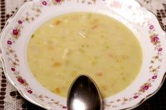Placa com sopa Imagens de Stock Royalty Free