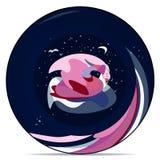 Placa com uma cisne abstrata Imagem de Stock