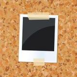 Placa com uma foto Imagem de Stock