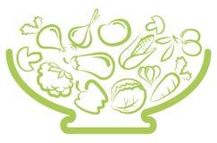 Placa com vegetais Fotos de Stock Royalty Free