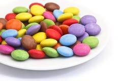 Placa con el caramelo imagen de archivo libre de regalías