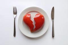 Placa con el corazón quebrado Imagenes de archivo
