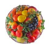Placa con la fruta Foto de archivo