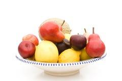 Placa con las frutas Fotografía de archivo