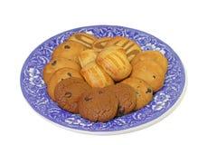 Placa con las galletas Fotografía de archivo