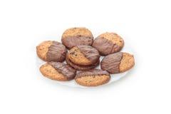 Placa con las galletas del chocolate Fotografía de archivo libre de regalías