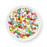Placa con las píldoras libre illustration