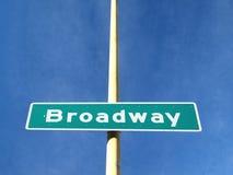 A placa conhecida da estrada de Broadway Foto de Stock