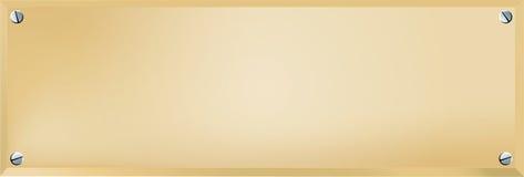 Placa conhecida de bronze fotos de stock royalty free