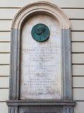 Placa conmemorativa de Nietzsche en Turín imagen de archivo libre de regalías