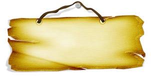 Placa conocida de madera Foto de archivo libre de regalías