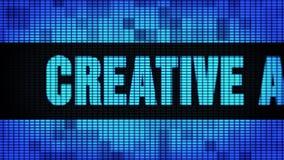 Placa criativa do sinal do tela da parede do diodo emissor de luz de Front Text Scrolling da propaganda video estoque