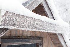 Placa cubierta con helada y nieve Imagen de archivo libre de regalías