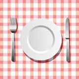 Placa, cuchillo y fork libre illustration