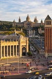 Placa d`Espanya in Barcelona Royalty Free Stock Photos