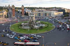 Placa d`Espanya in Barcelona Stock Photography