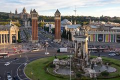 Placa d`Espanya in Barcelona Stock Photos