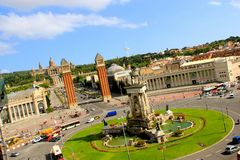 Placa d'espanya in Barcelona, Spain Royalty Free Stock Photography