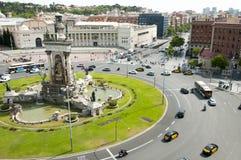 Placa d`Espanya Roundabout - Barcelona Royalty Free Stock Photo