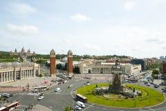 Placa d`Espanya Roundabout - Barcelona Royalty Free Stock Photography