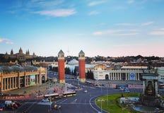 Placa d'Espanya Stock Photos