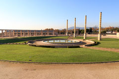 Placa d Europa at Barcelona olympic park (Anella Olimpica) on Montjuic Stock Photo